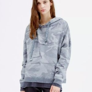 IRO Jeans Zury Destroyed Fade Hole Camo Hoodie